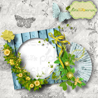 Premade Scrapbook Page - Sun and Sea - Digital Scrapbook QUICKPAGE Layout Pre-Made Quickpages - Pre-Made Layouts - INSTANT DOWNLOAD