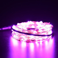 Xmas 1 2 3 5 10M LED Silver Copper Cable Wire Fairy Light String Lamp MultiColor