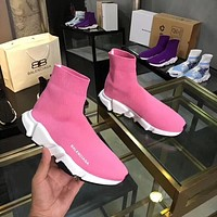 Pink BALENCIAGA Shoes Women Casual Running Sport Shoes Sneakers