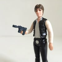 Star Wars Toy, Star Wars Figure - 70s Toy, Han Solo Action Figure with Blaster Pistol - From the Original Kenner Star Wars Line