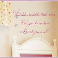 Alphabet Garden Designs Twinkle Twinkle Wall Decal - child031 - All Wall Art - Wall Art & Coverings - Decor