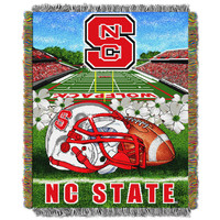 """NC State College """"""""Home Field Advantage"""""""" 48x60 Tapestry Throw"""