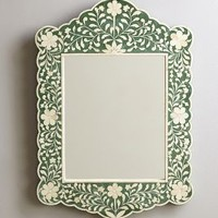 Flora Inlay Mirror by Anthropologie