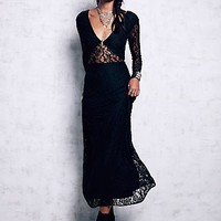 Free People Womens Lace Maxi