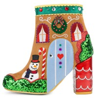 Women's Gingerbread House Ankle Boots