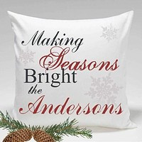 Personalized Holiday Throw Pillows - Making Seasons Bright