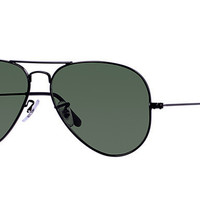 Ray Ban Aviator Black with Green G15 Lens RB3025 L2823