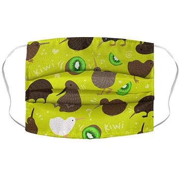 Kiwi Pattern Face Mask Cover