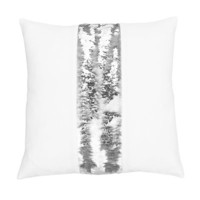 Zimmer Stripe Mermaid Reversible Sequin Throw Pillow