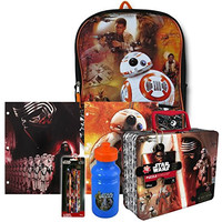Star Wars VII Episode 7 The Force Awakens Backpack, Lunch Box and School Supplies