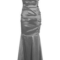 One-Shoulder Trumpet Taffeta Long Prom Dress Bridesmaid Gown