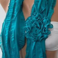 Mothers Day gift  Gorgeous Accessories....It made with good quality chiffon fabric ...Turquoise
