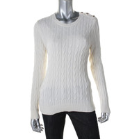 Charter Club Womens Petites Knit Textured Pullover Sweater