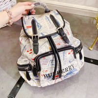 BURBERRY  hot seller for casual ladies with a shopping printed bag and fashionable backpacks