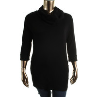 INC Womens Plus Ribbed Knit Cuff Sleeves Tunic Sweater