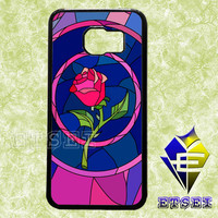 rose beauty and the beast glass case For Samsung Galaxy S3/S4/S5/S6 Regular/S6 Edge and Samsung Note 3/Note 4 case