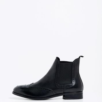 TRUSHAM BROGUE LEATHER CHELSEA BOOT