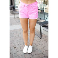 The Polly Denim Shorts (Pink) FINAL SALE