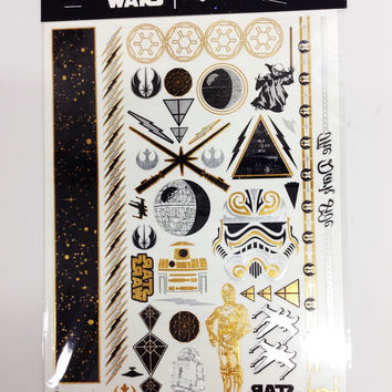 Star Wars Gold & Black Temporary Tattoos