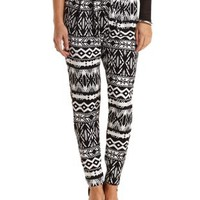 Aztec Print Drawstring Trousers by Charlotte Russe