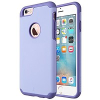 iPhone 6 Case, [Slim Fit] ULAK Sugar Candy [Anti-Slip] Drop Protection with Shock Absorbent [Hybrid PC & Silicone Case] Cover for Apple iPhone 6s / 6 - [Purple]