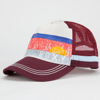 Roxy So Local Womens Trucker Hat Burgundy One Size For Women 25246232001