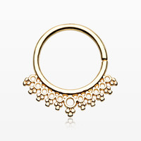 Golden Grand Entice Septum Twist Loop Ring