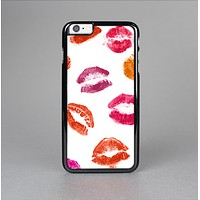 The White with Colored Pucker Lip Prints Skin-Sert Case for the Apple iPhone 6 Plus