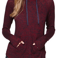 Kirra Funnel Neck Hooded Long Sleeve Tee at PacSun.com