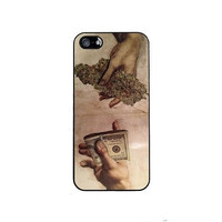 Drug Dealer Money Weed fashion housing Cover Case for iPhone 4 4s 5 5s 5c 6 Plus