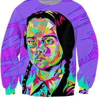 Wednesday Addams Technodrome1 Crewneck Sweatshirt