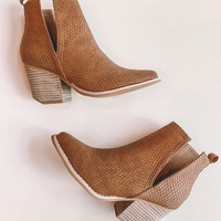 Jena Cut Out Snake Booties (Whiskey)