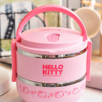 Pink Japanese Cartoon Anime Stainless Steel Bento Lunch Box