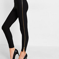 mid-rise side zip legging
