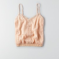 AEO BUTTON EMBROIDERED BUBBLE TANK