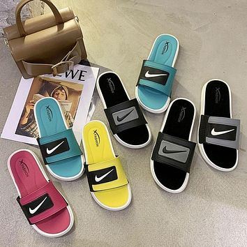 Colorful Nike Women Casual Fashion Sandals Slipper Shoes men