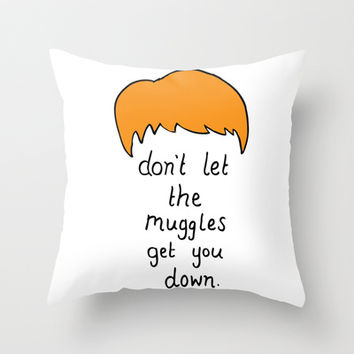 Advice from Ron Weasley Throw Pillow by Candysomething