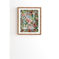 Craft Boner Shit could be worse floral typography Framed Wall Art
