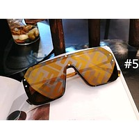 Fendi fashion brand female models frameless retro polarized sunglasses #5