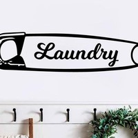 Laundry Room Safety Pin Rustic Vinyl Wall Decal Market Style
