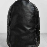 Mosson Bricke Pebbled Faux Leather Backpack- Black One