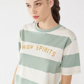 High Spirits Striped Tee | Urban Outfitters