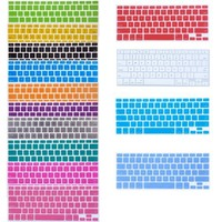 "Bundle of 15 Semi Transparent Colorful Keyboard Silicone Cover Skin Protector for Macbook 13"" Unibody / Macbook Pro 13"" 15"" 17"" / Macbook Pro 15 With Retina Display** / Mac Wireless Keyboard - With The Friendly Swede® Microfiber Cleaning Cloth and Retail P"
