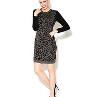 ON THE PROWL SWEATER DRESS WITH SEQUINS
