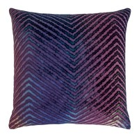 Peacock Chevron Velvet Pillows by Kevin O'Brien Studio