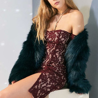 J.O.A. Off-The-Shoulder Lace Mini Dress - Urban Outfitters