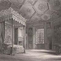 Antique Print Queen Mary's Chamber Holyrood Palace (A31) by Grandpa's Market