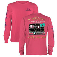 "Simply Southern ""Preppy Camper"" Long Sleeve T-shirt 2X"