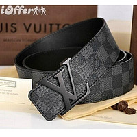 LOUIS VUITTONMEN GENUINE LEATHER BELT M9807/9808 BELTS