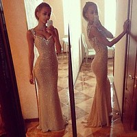 . Long Sequins Dress